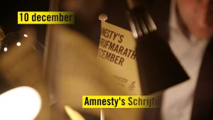 Promo Schrijfmarathon Amnesty